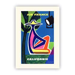 Affiche Air France Californie A107