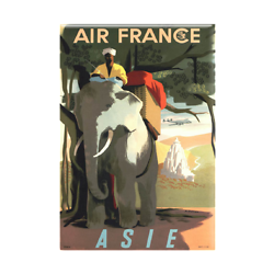 Magnet Affiche Air France Asie