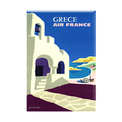 Magnet Affiche Air France Grèce