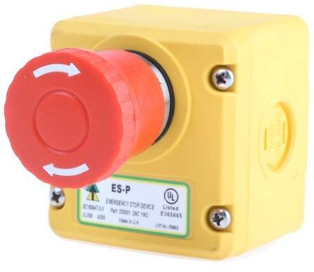 Bouton arrêt urgence IP67 ø40mm