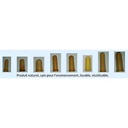 Sachet de 8 doigtiers caoutchouc naturel