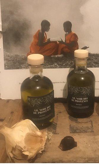 Huile d'olive bio à l'ail noir 10 cl