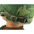 CASQUE US M-1 MODEL VIETNAM 1972 / COVER MITCHELL