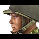 CASQUE US M2 EN ABS / PONTETS DEMI-LUNES / LINER PARATROOPER HAWLEY 1942