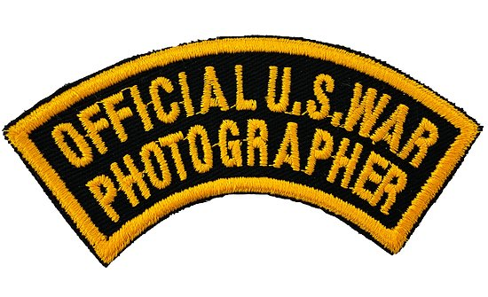 PATCH OFFICIAL U.S. WAR PHOTOGRAPHER