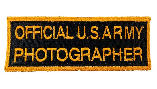 PATCH OFFICIAL U.S. ARMY PHOTOGRAPHER