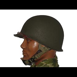 CASQUE US M2 EN ABS / PONTETS DEMI-LUNES / LINER PARATROOPER ST-CLAIR 1942