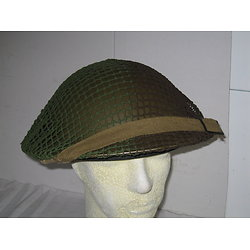 FILET TYPIQUE CANADIEN VERT & MARRON CASQUE WW2
