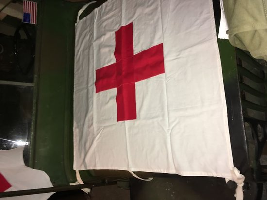 USA DRAPEAU DE TENTE MEDICAL WW2