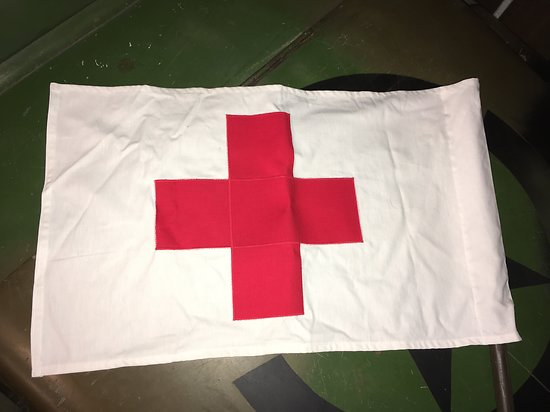 USA FANION DE JEEP MEDICAL WW2