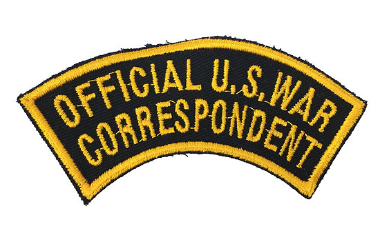 PATCH OFFICIAL U.S. WAR - CORRESPONDENT