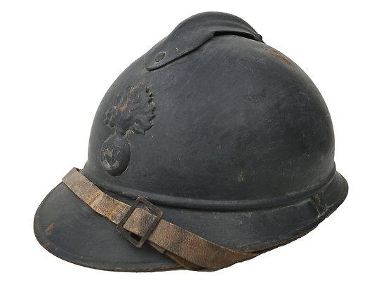 Casque Adrian Mod 1915 - Infanterie -  Gris Bleu Foncé - Taille B57