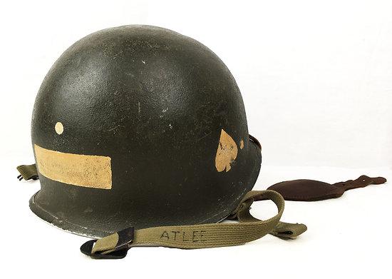 Casque US-M2, Parachutiste, Normandie 1944, T/5 Atlee