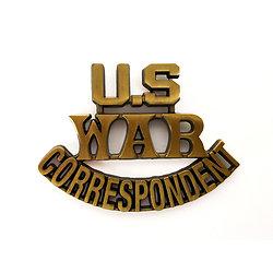 BADGE US WAR CORRESPONDENT