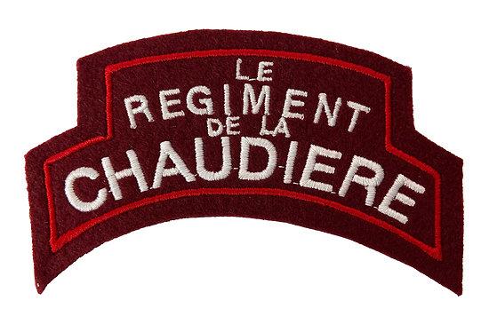 PATCH LE REGIMENT DE LA CHAUDIERE