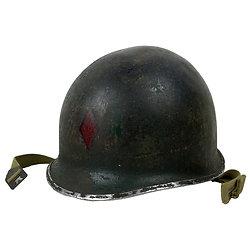 Casque Acier US M1 - 5th Inf Div - Red Diamond