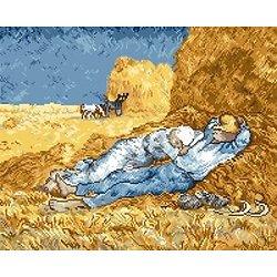 """""""La sieste"""" de Van Gogh diagramme noir et blanc"""