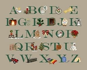 Abécédaire de Noël diagramme couleur