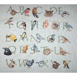 Abécédaire des oiseaux diagramme noir et blanc