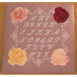 Alphabet roses et dentelle diagramme noir et blanc .pdf