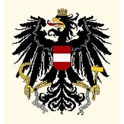 Armes de l'Autriche diagramme noir et blanc