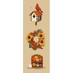 Bannière d'automne diagramme couleur