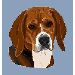 Beagle diagramme noir et blanc