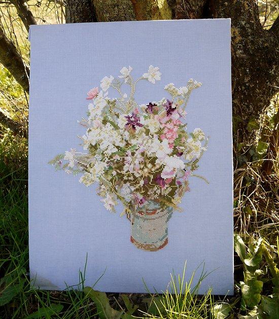 Bouquet de fleurs des champs diagramme couleur