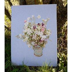 Bouquet de fleurs des champs diagramme noir et blanc