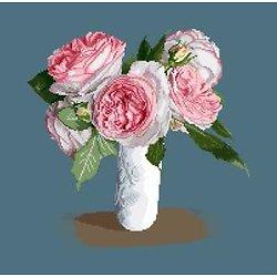 Bouquet de roses Pierre de Ronsard diagramme noir et blanc