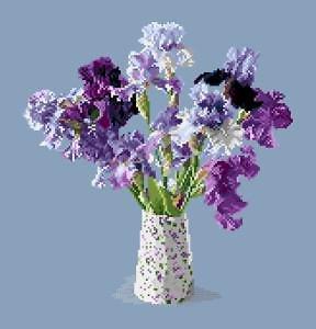 Bouquet d'iris diagramme noir et blanc .pdf