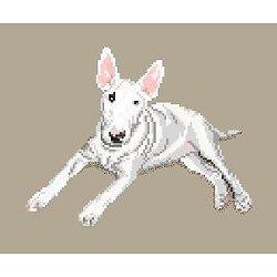 Bull terrier diagramme noir et blanc