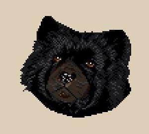 Chow-chow noir diagramme couleur
