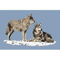 Couple de loups diagramme couleur