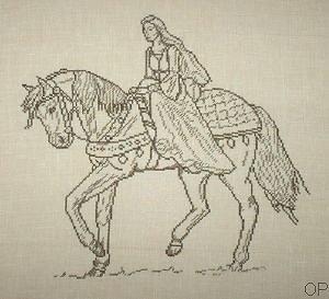 Dame médiévale monochrome diagramme couleur