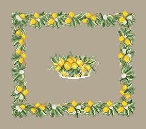 Décor aux citrons diagramme couleur