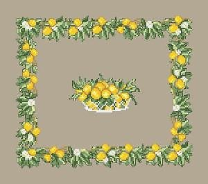 Décor aux citrons diagramme noir et blanc