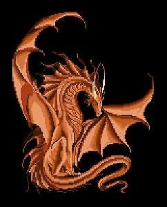 Dragon diagramme noir et blanc