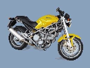 Ducati 750 Monster diagramme noir et blanc