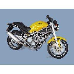 Ducati 750 Monster diagramme noir et blanc