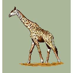 Girafe diagramme noir et blanc