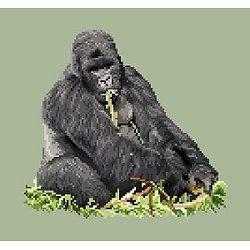 Gorille diagramme noir et blanc
