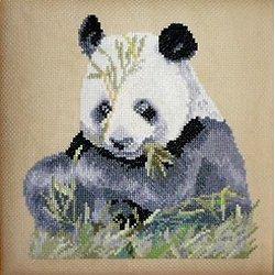 Grand panda diagramme noir et blanc