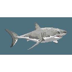 Grand requin blanc diagramme noir et blanc