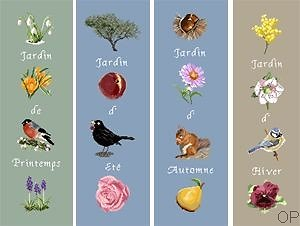 Jardins de saisons diagramme couleur
