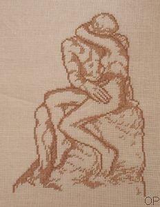"""""""Le baiser"""" de Rodin diagramme couleur"""