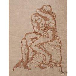 """""""Le baiser"""" de Rodin diagramme noir et blanc"""