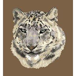 Léopard des neiges diagramme noir et blanc