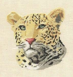 Léopard diagramme noir et blanc