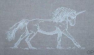Licorne diagramme noir et blanc